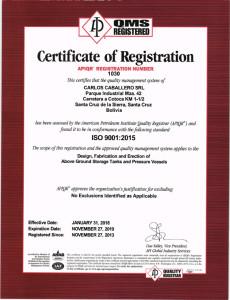 ISO 9001-2015 -API_G18