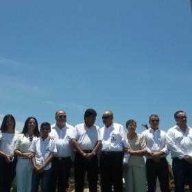 Acto de inauguración de primer siderúrgica boliviana